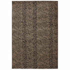 Picture of Brown and Black Kramer Hills Rug 5 X 7 ft