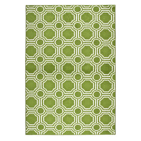 Picture of D112 Lime and White Mosaic Rug- 5x7 ft