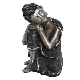Picture of Black and Silver Resting Buddha Head