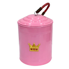 Picture of Crown Iron Canister with Rope, Pink