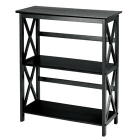 Picture of 3-Tier Black X-Frame Shelf