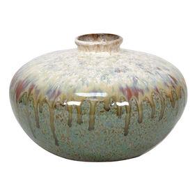 Picture of Ceramic Green Drip Glaze Vase 7.24x5.24-in