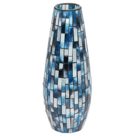 Picture of MOSAIC BLUE VASE 15X6X6
