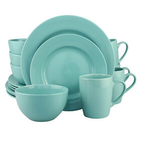 Picture of 16 PC RD DINNERWARE SET TURQ