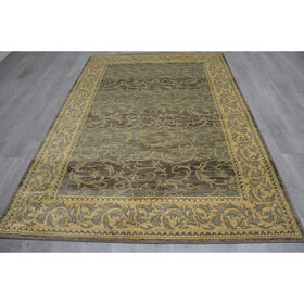 Picture of B249 Brown and Yellow Antique Border Rug