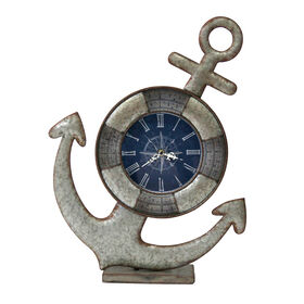 Picture of Metal Anchor Blue Face Clock - 23 in.