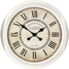 Picture of 22-in White Beaded Paris Clock