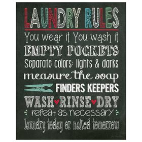 Picture of SA TEX 16X20 LAUNDRY RULES