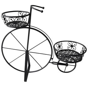 Picture of 24IN BLACK DOUBLE BIKE PLANTER