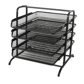 Picture of MTL MESH 3 TIER FILE TRAY-BLK