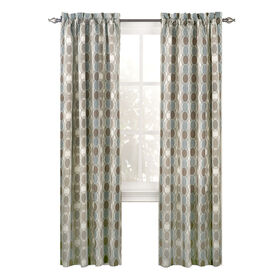 Picture of Mineral Blake Pole Top Window Curtain Panel 84-in