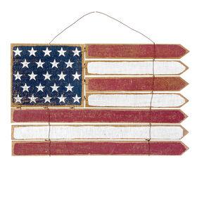 20-in. Patriotic Wood Plank Flag