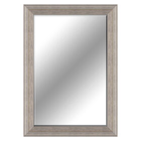 Picture of 24 X 36-in Distressed Gray Beaded Mirror