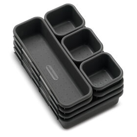 Picture of MadeSmart Interlocking Bin Pack, Granite - Set of 8