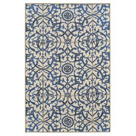 Picture of 5 x 7 Ornamental Grey Blue Rug