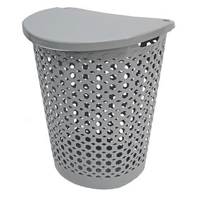 Picture of 25.5-in Laundry Basket - Gray Links