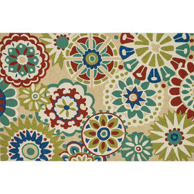 Picture of E106  Multicolor Suzani Rug
