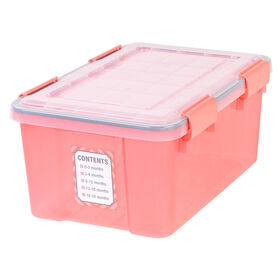 Picture of Keepsake Storage with Lid - Coral