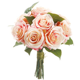 Picture of Pink & Peach Rose Bouquet 11-in