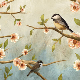 Picture of 12 X 12-in Blossom Birds Accent Art