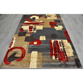 Picture of B142 Beige and Red Opus Rug