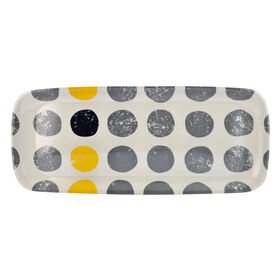 Picture of Yellow and Gray Large Sandwich Tray with Dots