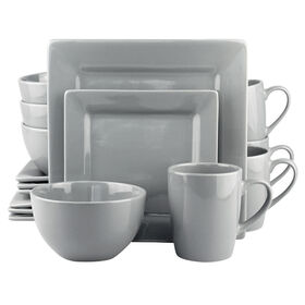 Picture of 16 PC SQ DINNERWARE SET GRAY