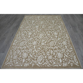 Picture of E121 Beige Cancun Floral Rug
