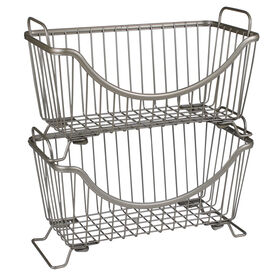 Picture of Ashley Stacking Small Basket - Nickel
