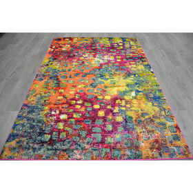Picture of B252 Multicolor Dots Casablanca Rug