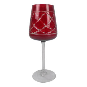 Picture of 20oz Deep Red Cut Goblet