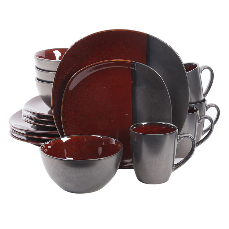 16 PC RD VOLTERRA RED METALLI