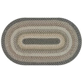 Picture of Jute Navy & Gray Braided Rug- 3 X 5 ft