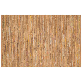 Picture of B295 Tan Edge Leather Jute Rug- 8x10 ft