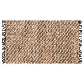 Picture of Clarke Leather Beige Rug 27x45-in.