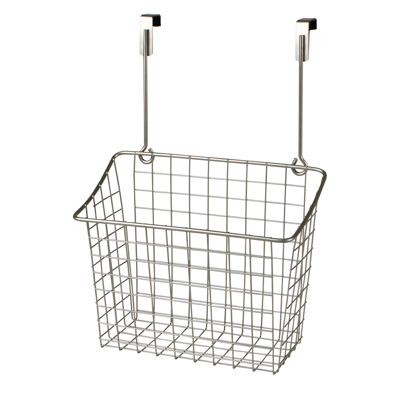Over The Cabinet Basket Large Over The Cabinet Door Wire Grid Basket Nickel At Home