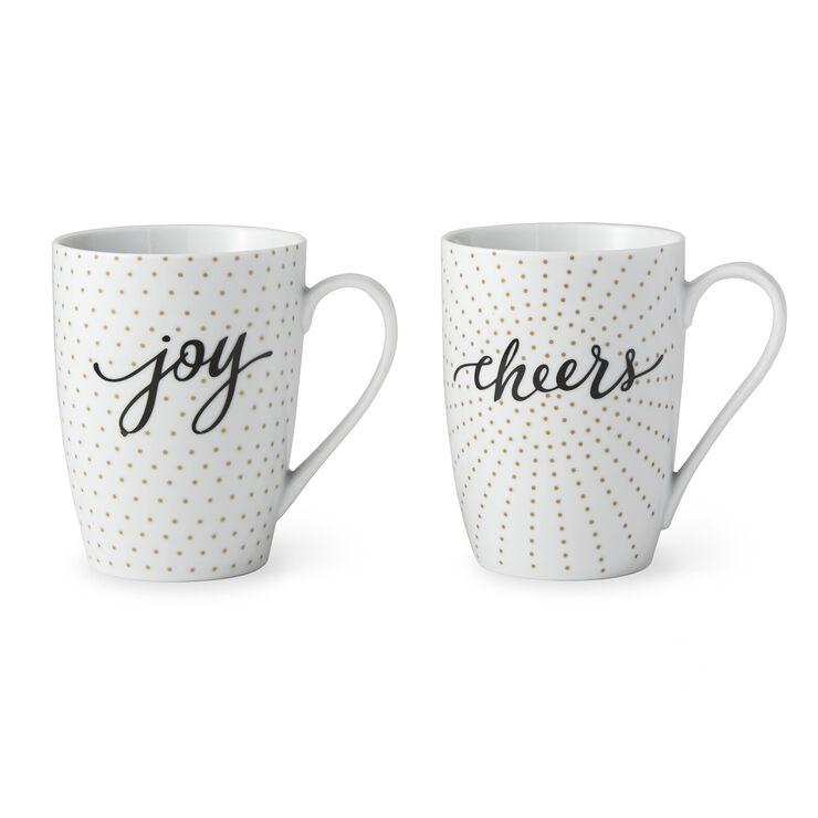 Joy & Cheers Mugs- Set of 2