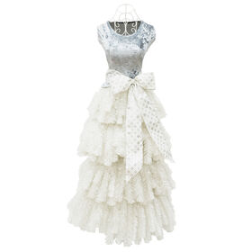 Picture of D6 60-in Silver Dress Form Christmas Tree