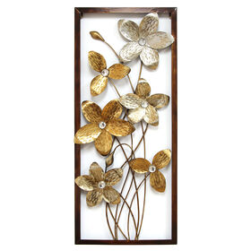 metal flower wall decor 12x32 in - Metal Flower Wall Decor