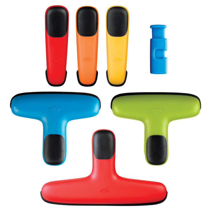 Food Clips, Assorted Colors - 7 Piece Set