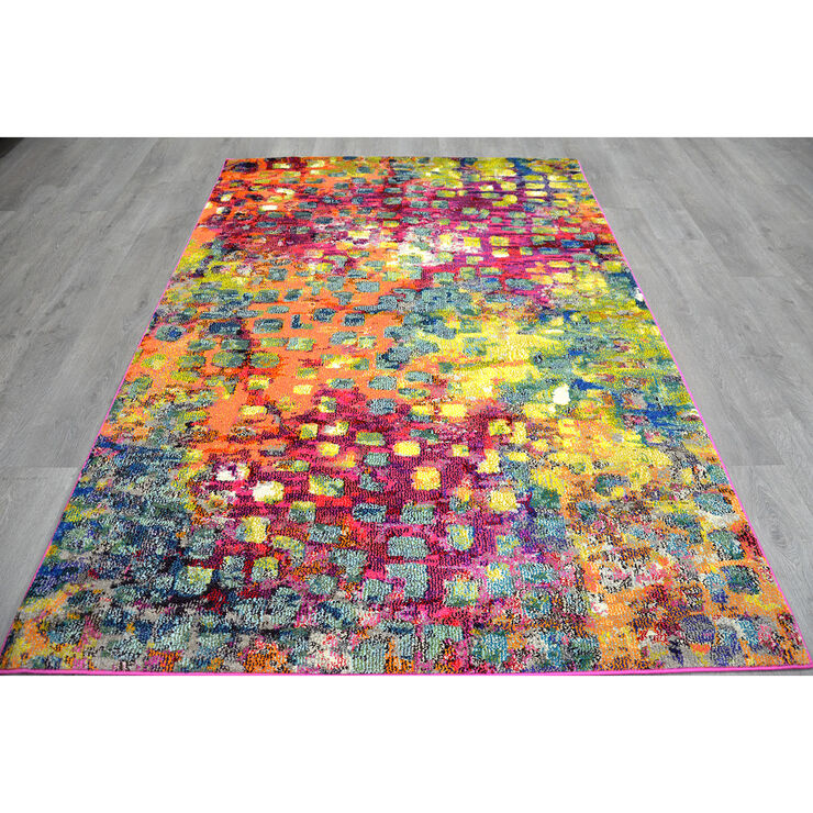 B252 Multicolor Dots Casablanca Rug- 8x10 ft