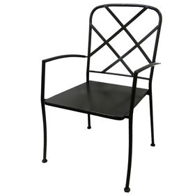 Picture of Criss Cross Back Metal Chair - Brown