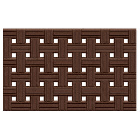 Picture of Brown Weave Rubber Doormat 18 X 30-in