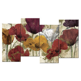 Picture of 48 X 24-in Staggered Happy Flower Studio Art