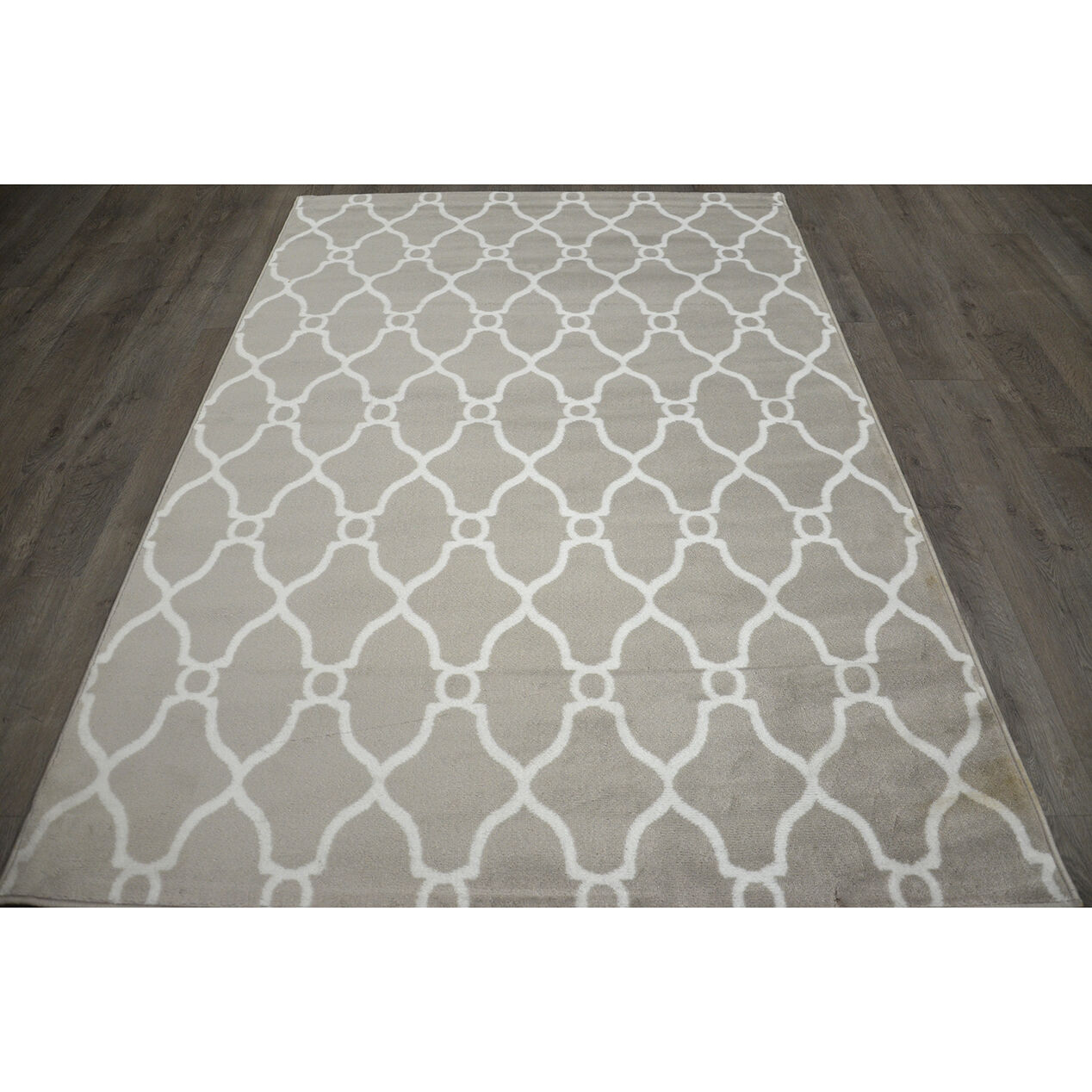 D47 Grey and White Moroccan Runner - At Home