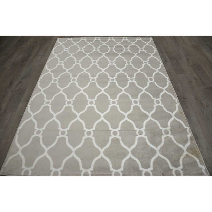 D47 Grey and White Moroccan Runner
