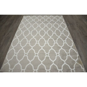D47 Grey and White Moroccan Rug