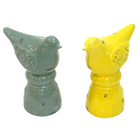 Picture of Blue and Yellow Bird on Knob