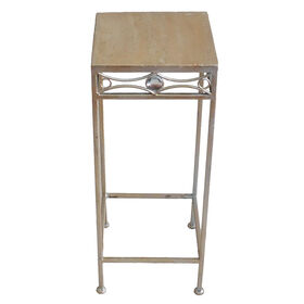 Picture of Champagne and Jewel Plant Stand 10X25-in
