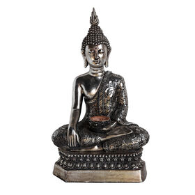 Picture of Silver Buddha Sitting on Base